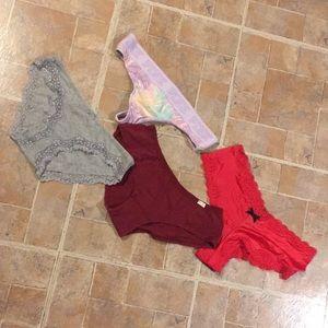(4) various brands panties size women's medium